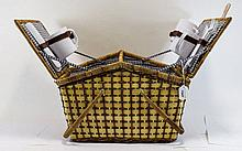 Modern Picnic Hamper complete with plates, cups an