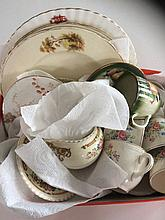Mixed Lot Of Pottery including cabinet plates, orn