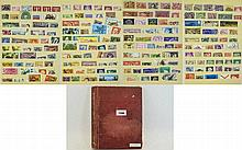 All world 16 page A5 stock book of stamps. Many ol