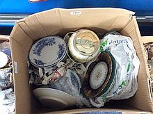 Mixed Lot Of Pottery Plates, Ornaments, Tureens, C