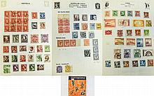 International Unique stamp album containing countr