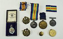 Military Interest Two WW1 Medals And Paperwork, 2