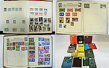 Box of sixteen assorted stamp albums containg stam