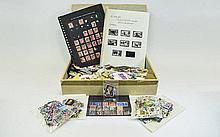 A4 glory box full of old stamps. Includes several