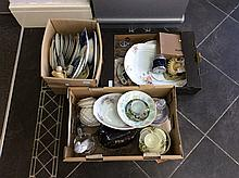 Boxes Of Miscellaneous Crockery Collectibles and G