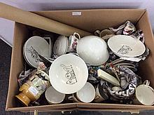 Box Of Misc Pottery And Collectables  Comprising C