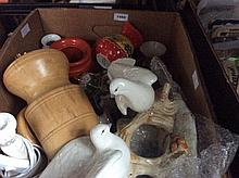Box Of Misc Pottery And Collectables.