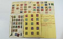 Nice selection of very old stamps in old approval