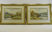 Harold Lawes 1865 - 1940 Pair of Watercolours of T