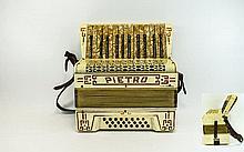 Pietro Piano Accordion, with case. c 1950's. Made