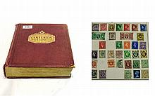 Wonderful old large Centurion stamp album filled w