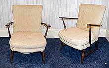 Early 20th Century Pair of Well Constructed Oak Ar