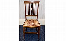 19th Century Late Walnut Upholstered Bedroom Chair