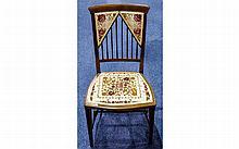 Edwardian Very Fine Inlaid Mahogany - Spindle Back