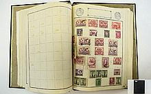 Extremely well filled loose leaf stamp album with