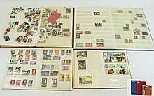Selection of four stock books containing stamps fr