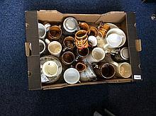 Mixed Box of Miscellaneous comprising part tea ser