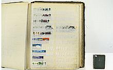 Old cardboard 16 page A4 stock book full of GB pre