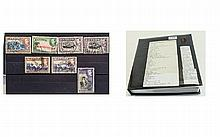 Super album of stamps sorted into sets on stock ca