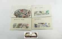 All sorts of stamps in large shoebox sorted into c