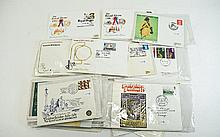 Large pack of stamp first day and other covers. Ma