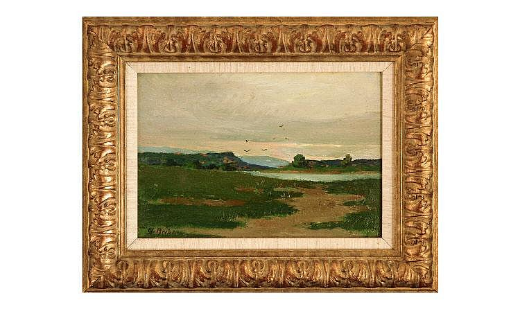 Charles Berjole (1884-1924) Landscape. Oil on