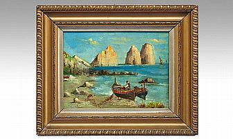 Samuel Austin (English 1796-1834) Fishermen Drying