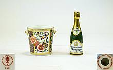 Royal Crown Derby Miniature Champagne Bottle and I