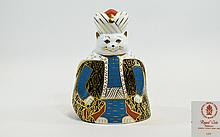 Royal Crown Derby Paperweight - Royal Cats ' Persian ' Date 1991 - No Stopper. 1st Quality / Mint Condition. 6.5 Inches High.