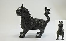 Middle Eastern Bronze Censer In The Form Of A Myth