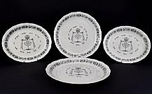 Grindley Royal Cauldron Passover Ware. Black Litho on white pottery. Very r