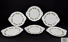 Shelley 6 Round Eared 9 inch Cake Plates