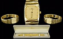 Baume Mercier - 1830 18ct Gold Date-Just Quartz Ladies Wrist Watch with Integral 18ct Gold Bracelet, Features Champagne Dial, Diamond Markers, Slim Style. Excellent Bracelet. Date 1990. Total Weight 65.5 grams. 59 grams 18ct Gold. Working / Excellent