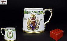 Spode Silver Jubilee China Tankard, original box and as new condition.