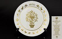 Spode 1970 Christmas Plate, the first in the series. original box and as new condition.