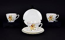 Three Cups and Assorted Saucers Teddy Bear Babyware.