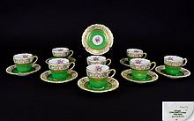 Ruskin ' Pattern ' Spode / Copeland Hand Finished - Demitasse ( 16 ) Piece Coffee Set. Comprises 8 Cups and 8 Saucers. Pattern No Y4133N. Date 1891 - 1899. All Cups and Saucers In Excellent Condition.