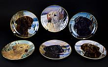 Franklin Mint Heirloom Collection Limited Edition Set of Porcelain Collector Plates. (6) in total. All with certificates of authenticity certifying that they bear an original work of art by Randy McGovern and bear the signature mark of the artist.