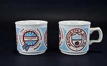 Pair of Beakers - Manchester City League Cup Winners. 1975 / 1976.