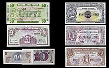 An Excellent Collection of British Armed Forces Serial Vouchers (6) in tota