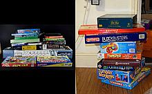 Collection of Boxed Board Games approx 24. Includes Master Mind, Yahtzee, Twister, Backgammon, Monopoly, Blockbusters, Amazing Robot, Scrabble, Operation, Trivial Pursuit etc. (have not been checked for completeness).