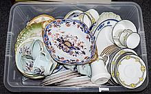 A Large Collection Of Vintage Ceramic Items Over fifty pieces, a varied collection to include cups, saucers, cake plates, serving plates etc. Includes, Sutherland China, Calyx ware, Spode etc.