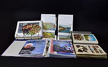 A Collection Of Vintage Postcards Theatre Programmes And Paper Ephemera Four folders in total, the first comprising several vintage topographical postcards, the second comprising world and Europe postcards. Also two ring binders, the first containing