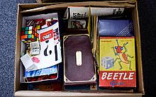 A Collection Of Games including  Chad Valley Beetle Game, Twenty One,  Enid Blyton Little Noddy, Various Card Games, Lego and Recorders.