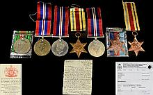 Collection of World War II Military Medals ( 7 ) Medals In Total. Awarded to Aircraftsman First Class P.J. Henegan - Killed In Action. 1/ 1939 - 1945 Star. 2/ Africa Star ( 2 ) Medals. 3/ 1939 - 1945 Defence Medal. 4/ North Africa Star 1942 - 1943.