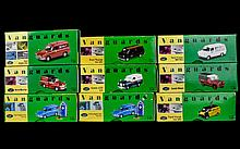 A Collection Of Precision Die- Cast Replica Cars. 9 In total. Including 2 Ford Anglia Van RAC Set, Ford MK1 One Millionth Transit, Landrover Series II Midland Red, Ford Transit Van MKI Evening News, Austin A35 M.E.B Van , Ford Anglia Marley Tiles