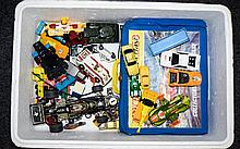 A Collection of Well Used Cars Including Dinky, Corgi and Matchbox models i