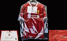 Liverpool Football Club Interest Official Club Issued Signed Shirt With Autographs Of Eleven Of The 2017/18 Squad A brand new, mint condition signed shirt complete with Authenticity Certificate and security hologram issued by Liverpool Football Club.
