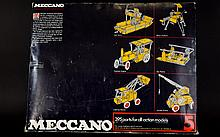 Meccano Boxed Activity Set -395 parts for all action models with new working drawings to build 81 models.