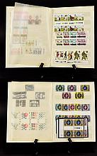 Two Clip Down  Ten Page Stamp Stock Books Containing mostly GB mint stamps.
